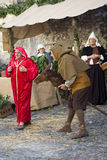 Medieval costume party Stock Photo