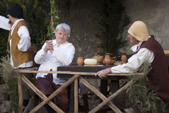 Medieval costume party Stock Image