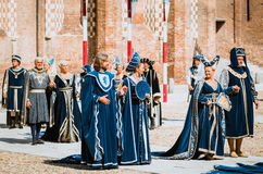 Medieval costumes Stock Image