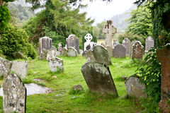 Medieval County Graveyard, Glendalough, county Wicklow, Ireland Royalty Free Stock Photo
