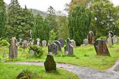 Medieval County Graveyard, Glendalough, county Wicklow, Ireland Royalty Free Stock Images