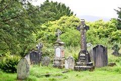 Medieval County Graveyard, Glendalough, county Wicklow, Ireland Stock Photography