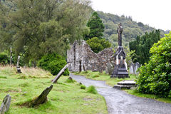 Medieval County Graveyard and ruins, Glendalough, county Wicklow, Ireland Stock Photography