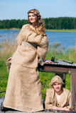 Medieval couple Stock Images