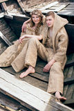Medieval couple Stock Image