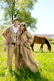 Medieval couple Stock Photo