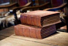 Medieval court books Stock Images