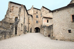 Medieval courtyard of Castle Beseno Stock Photo
