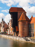The medieval crane in Gdansk city centre Royalty Free Stock Photography