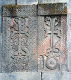 Medieval cross stones,armenia Royalty Free Stock Photo