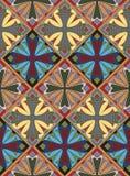 Medieval Cross Tile Pattern Stock Images