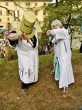 Medieval crusaders at Lucca Comics and Games 2014 Stock Photography