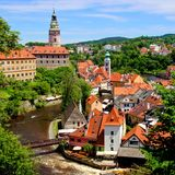 Medieval Czech town of Cesky Krumlov Royalty Free Stock Photography