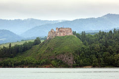 Medieval Czorsztyn castle at the lake Royalty Free Stock Image