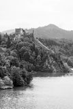 Medieval Czorsztyn castle at the lake Stock Photo