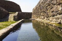 Medieval dam Stock Photo