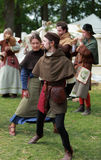 Medieval dance Stock Image