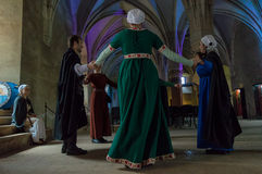 Medieval dance Royalty Free Stock Images