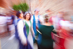 Medieval dancer. Color image Royalty Free Stock Image
