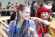 Medieval dances Stock Images