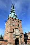 Medieval Danish tower. Tower of Danish Frederiksborg palace Stock Images