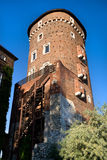 Medieval Defence Tower in Wawel Royal Castle Stock Image