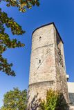 Medieval defense tower Beginenturm in Hannover Stock Photos