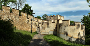 Medieval defensive wall royalty free stock images