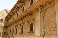 Medieval Design arts:house inside fortres. Medieval structure made by rajputana clans at jaipur in India. Here you can see that beautiful design on the stone & stock images