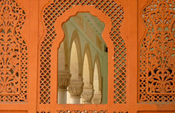 Medieval Design arts:mixture of Hindu & Muslim Culture. Medieval structure made by rajputana clans at jaipur in India. Here you can see that beautiful design on stock images