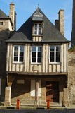Medieval Dinan, France. Medieval half-timbered house in Dinan, Brittany, France Royalty Free Stock Photography