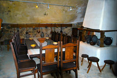 Medieval Dining Room Stock Image