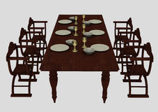 Medieval dining table Royalty Free Stock Photo