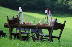 Medieval Dining Table Royalty Free Stock Image