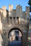Medieval door. Of Montecassiano  - Macerata Royalty Free Stock Images