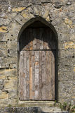 Medieval Door - Carcassonne - France Stock Photo