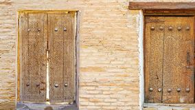 Medieval door. The compilation of the medieval doors with islamic ornaments, preserved in Khiva, Samarkand, Bukhara and Kokand, Uzbekistan stock video footage
