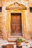 Medieval door details in the historical town of San Gimignano, Tuscany Royalty Free Stock Photos