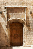 Medieval door in France Stock Photo