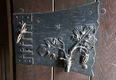 Medieval door handle Royalty Free Stock Image