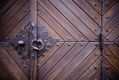 Medieval door knocker, hinge Stock Photos