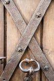 Medieval Door lock Stock Photo