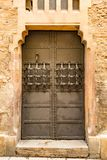 Medieval door made of metal with detailled grid Royalty Free Stock Images