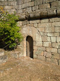 Medieval door in Ribadavia castle stock image