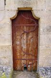 Medieval door, Rocamadour, France Royalty Free Stock Images