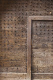 Medieval door with spikes Royalty Free Stock Image