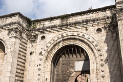 The medieval Door of St. Pietro - Perugia Royalty Free Stock Photos
