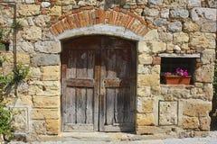 Medieval Doorway, Tuscany, Italy Stock Photos