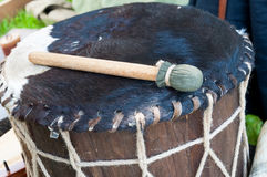 Medieval drum Stock Image
