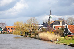 Medieval dutch village in the Netherlands. Medieval dutch village in the countryside from the Netherlands Stock Photography